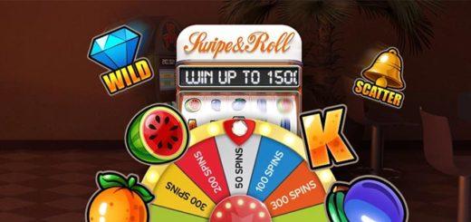 Swipe & Roll tasuta spinnide õnneratas Optibet kasiinos