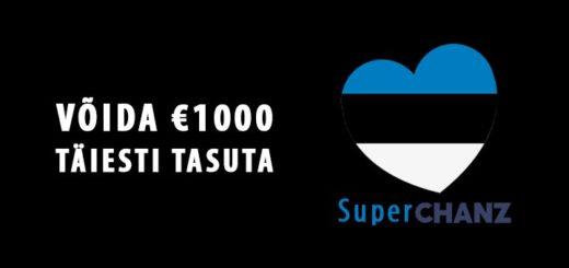 Võida Chanz kasiinos 1000 eurot täiesti tasuta raha