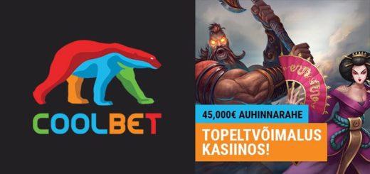 Coolbet kasiino rahasajus jagatakse ära 45 000 eurot pärisraha