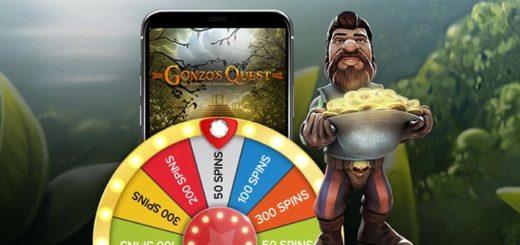 Gonzo's Quest tasuta spinnide õnneratas Optibet kasiinos - võta koheselt kuni 1500 tasuta keerutust