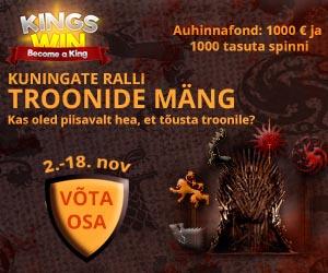 Kingswin kasiino Troonide Mängu slotiturniir