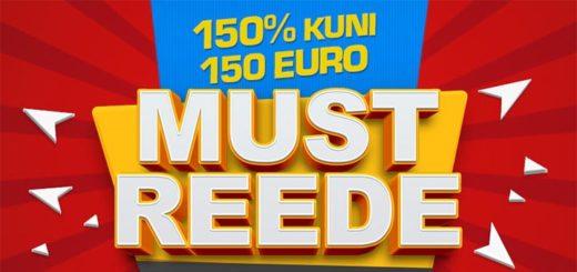 Must Reede GrandX Online kasiinos