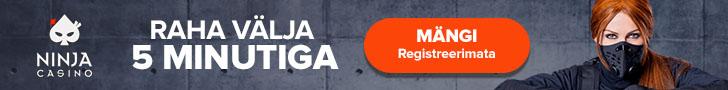 Ninja Casino Eesti - mängi ilma kontot registreerimata