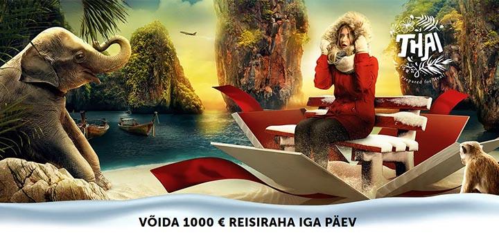 Betsafe Eesti kasiino, spordiennustuse ja pokkeri jõulupakkumised - võida iga päev 1000 eurot