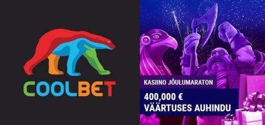 Coolbet kasiino jõulumaraton 2018 - auhinnafondis €400 000 väärtuses raha ja kingitusi