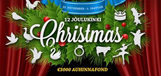 GrandX Casino 12 jõulukinki - slotiturniir, tasuta spinnid ja päevaülesanded