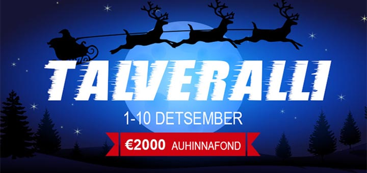 GrandX Online Casino talveralli 2018 - auhinnafondis 2000 eurot