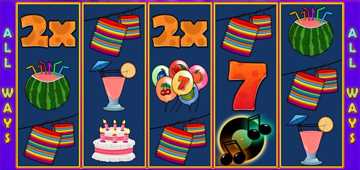 GrandX kasiino boonuskood CHRISTMAS annab 100 tasuta spinni mängus Party Time