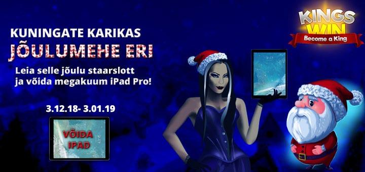 Kingswin kasiino jõuluturniir 2018 - võida tutikas iPad Pro tahvelarvuti