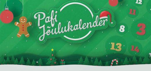 Paf Jõulukalender 2018 - tasuta spinnid, tasuta raha, loosimised jpm