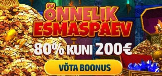 GrandX Online Casino Õnneliku Esmaspäeva boonus summas kuni €200