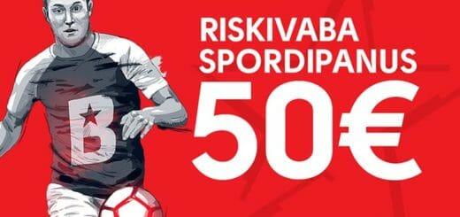 Olybet Eesti 2-päevane eripakkumine - uuele liitujale €50 riskivaba spordipanus