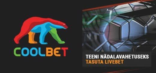 Teeni kihlveokontoris Coolbet nädalavahetuseks €10 tasuta live panus