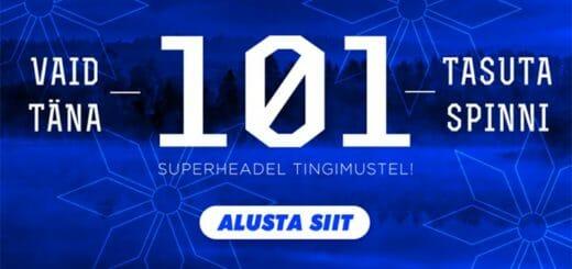 Eesti Vabariigi 101. sünnipäeva puhul kõigile GrandX Online Casino aktiivsetele klientidele tasuta spinnid