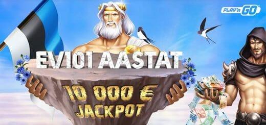 OlyBet tähistab Eesti Vabariigi 101. aastapäeva €10 000 Play'n GO slotimängude jackpot'iga