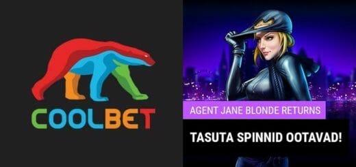 Agent Jane Blonde Returns tasuta spinnid Coolbet kasiinos