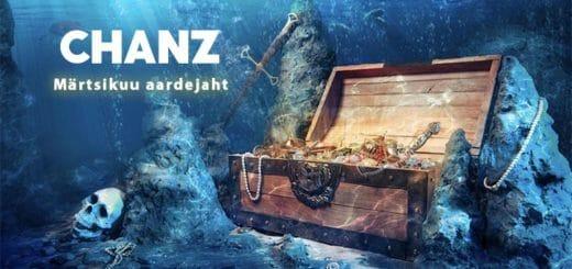 Chanz Casino märtsikuu aardejaht - tasuta spinnide varakamber, üllatused ja €1000 loos