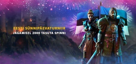 Eesti 101 sünnipäevaturniir Kingswin kasiinos - auhinnafondis 2000 tasuta spinni