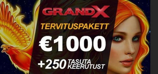 GrandX Online Casino boonus