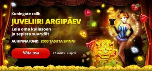 Juvelliiri Argipäev Kingswin kasiinos - turniiri auhinnafondis 2000 tasuta spinni