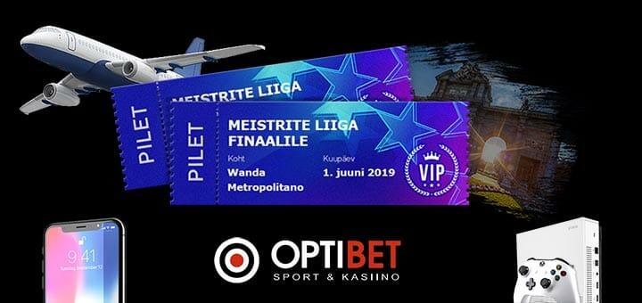 Optibet Meistrite Liiga 2019 eripakkumine - VIP reis Meistrite Liiga finaalmängule, iPhone XS, Xbox One S ja rahalised auhinnad