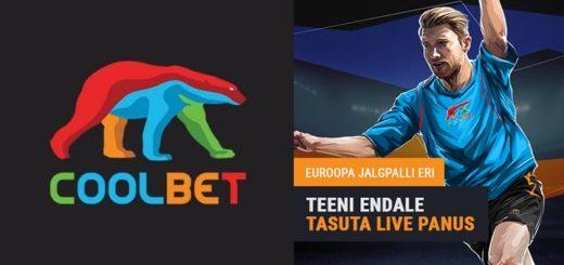 Coolbet Euroopa Jalgpalli eri - panusta ja saa kingituseks €10 tasuta live panus