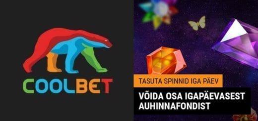 Coolbet kasiinos ootavad iga päev tasuta spinnid - mängi tasuta, võida päriselt