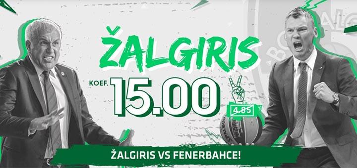 Zalgiris vs Fenerbache Euroliiga 2019 võimendatud koefitsiendid OlyBetis
