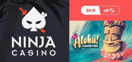 Ninja Casino aarded - sissemaksega kaasa tasuta spinnid slotimängus Aloha