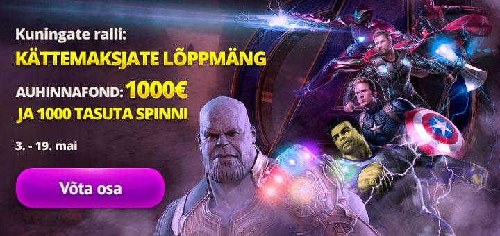 Superkangelaste slotiturniir Kingswin kasiinos - auhinnafondis €1000 + tasuta spinnid