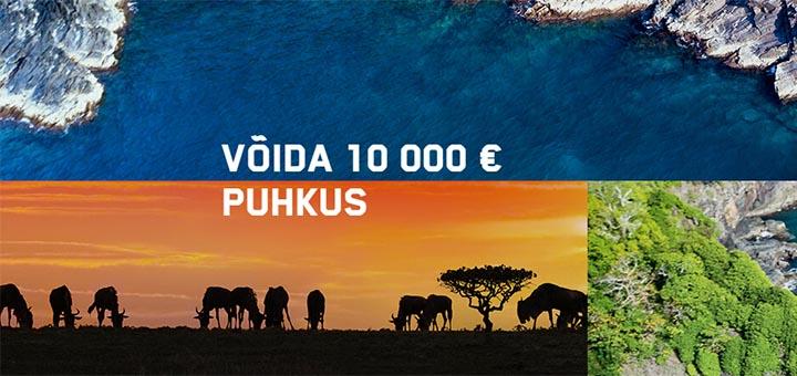 Võida Unibet kasiinos €10 000 väärt unistuste reis