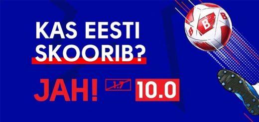 EURO2020 Eesti vs Põhja-Iirimaa valikmängu võimendatud koefitsiendid OlyBet'is