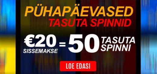 Igal pühapäeval GrandX Online kasiinos 50 tasuta spinni