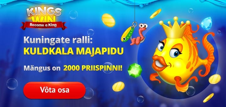 Kuldkala Fish Party slotiturniir Kingswin kasiinos