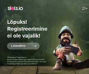 Slots.io - online kasiino - registreerimine pole vajalik