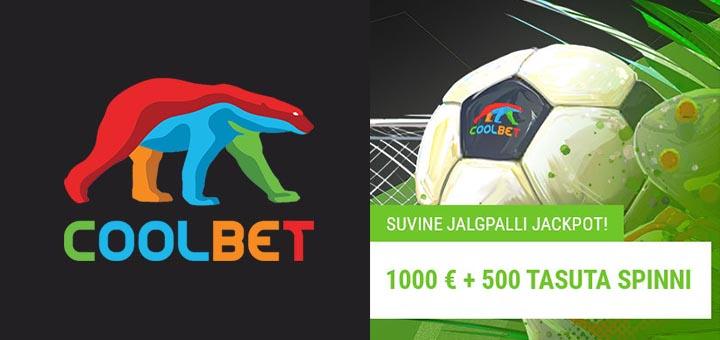 Suvine jalgpalli Jackpot Coolbet'is - auhinnafondis €1000 + 500 tasuta spinni