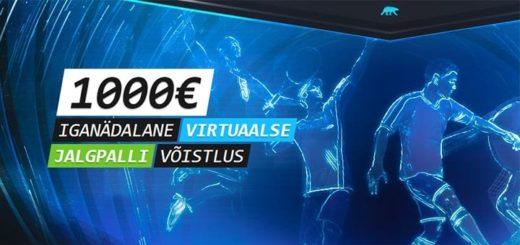 Coolbet Virtuaalspordis toimub iga nädal €1000 auhinnafondiga jalgpalli ennustamise võistlus