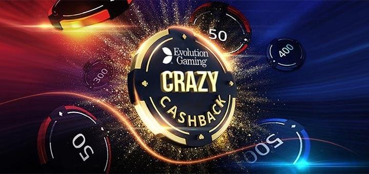 Optibet Crazy Cashback - mängi Evolution Gaming live kasiino lauamängudel ja teeni 2x rohkem VIP punkte