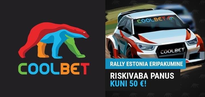 Rally Estonia 2019 riskivaba panus ja koefitsiendid Coolbet'is