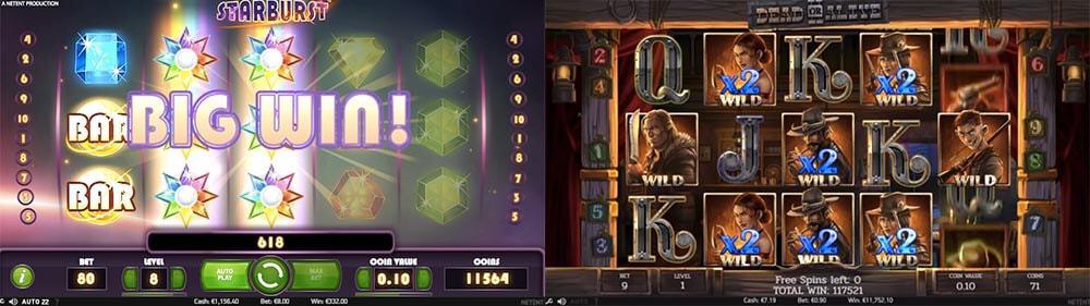 Starburst & Dead or Alive 2 slotimängude suured võidud