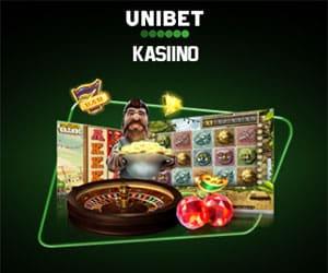 Unibet kasiino - €100 boonus + 5 tasuta spinni