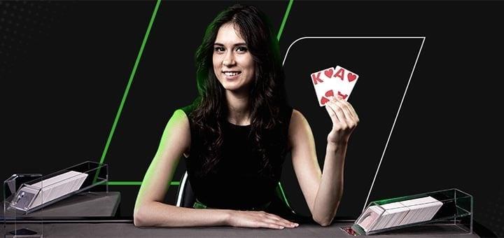 Unibet live kasiino Blackjack'is €10 tasuta boonusraha