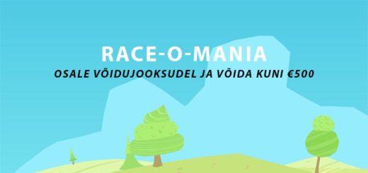 Chanz Casino võidujooks ja megajooks - Race-O-Mania