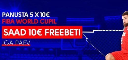 Korvpalli MM 2019 tasuta panused OlyBet'is