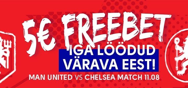 Manchester United vs Chelsea - iga värava eest tasuta panus