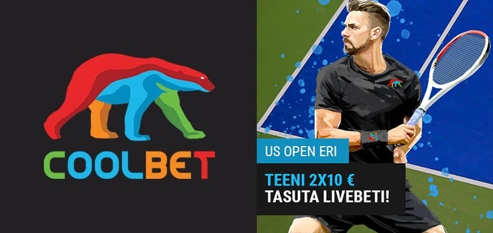 US Open 2019 tasuta live panused Coolbet'is
