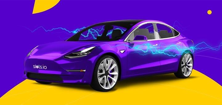 Võida slots.io online kasiinos Tesla Model 3 elektriauto