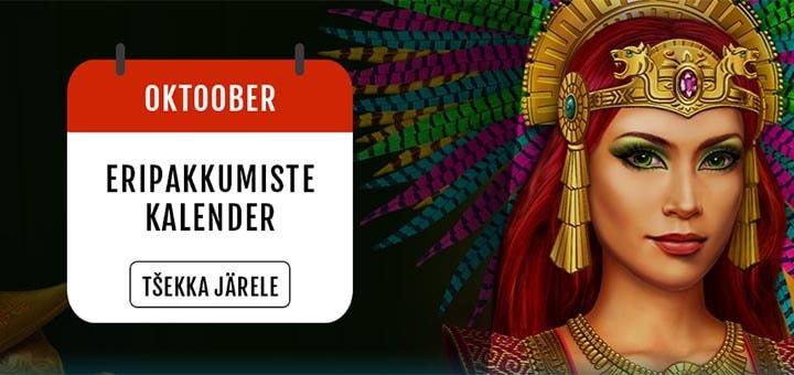 GrandX Online Casino oktoobrikuu kasiinokalender