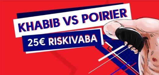 Khabib vs Poirier täielikut riskivaba panus OlyBet'is