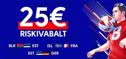 EURO 2020 valikmängude riskivaba panus OlyBet'is